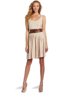 Calvin Klein Women's Cdc Belted Tank Dress, Khaki, 10 Calvin Klein, http://www.amazon.com/dp/B007NDBT7K/ref=cm_sw_r_pi_dp_9mt2pb18Y0P64