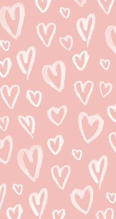 Pastel Pink Hearts iPhone Wallpaper @PanPins