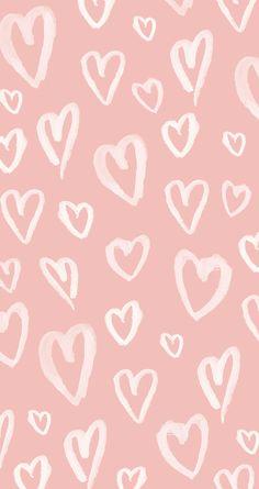 Pastel Pink Hearts iPhone Wallpaper @PanPins