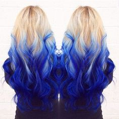 20 Captivating Blue Ombre Hair You Can't Miss
