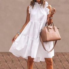 Paris Chic, Short Summer Dresses, Beach Dresses, Ruffled Dresses, Dress Beach, Dress Summer, Plus Size Robes, Plus Size Dresses, Elegantes Outfit