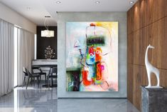 Wall painting tips can help DIYers get quality results. How to Paint a Room! Large Abstract Wall Art, Large Wall Art, Large Art, Oversized Canvas Art, Large Canvas, Oil Canvas, Bright Paintings, Abstract Paintings, Oil Paintings