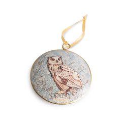 Hand Illustrated Owl Decoration