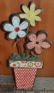 flower pot wood decor