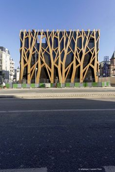 perforated metal and timber facade ideas - Google Search