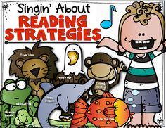 7 simple reading strategy songs set to a fun familiar tune!! Kindergarten and First Grade Reading and Decoding. Skippy Frog, Lips the Fish, Eagle Eye and MORE!