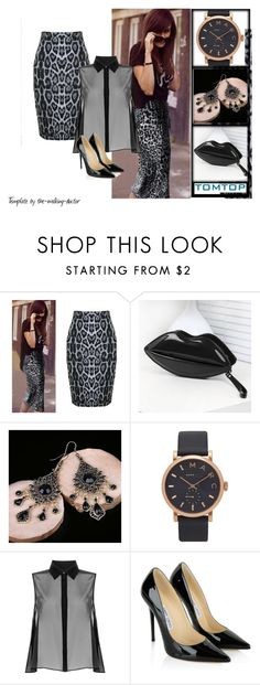 """""""TomTop23"""" by gold-phoenix ❤ liked on Polyvore featuring Marc Jacobs, McQ by Alexander McQueen, Jimmy Choo and tomtop"""