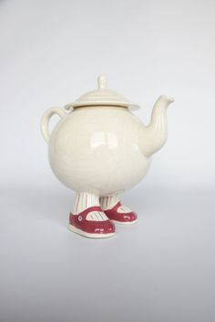 Walking ware teapot Carlton Ware England Lustre by hipposdream, €55.00