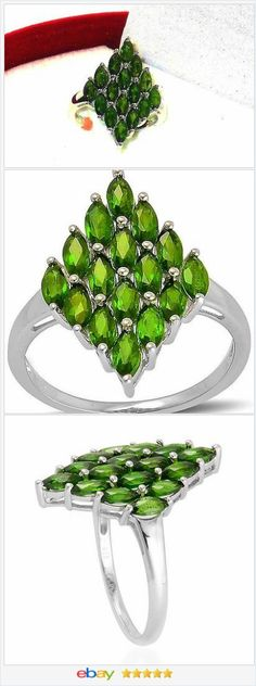 Russian Chrome Diopside ring 3.10 ctw size 6 VALENTINES DAY #ebay http://stores.ebay.com/JEWELRY-AND-GIFTS-BY-ALICE-AND-ANN