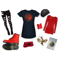 A Dance with Dragons, created by beth-miller on Polyvore. Game of thrones Targaryen outfit <3 <3