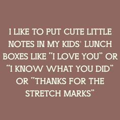 notes in kids lunch boxes