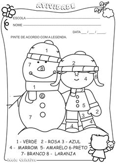Black and White Girl with Snowman Clip Art - Black and White Girl with Snowman Image Snowman Coloring Pages, Coloring Pages Winter, Christmas Coloring Pages, Black And White Girl, Clipart Black And White, Snowman Clipart, Snowman Images, Winter Clipart, Winter Images