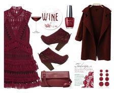 I love wine by andreachidisima on Polyvore featuring polyvore, fashion, style, self-portrait, Breckelle's, Rebecca de Ravenel, OPI, Nordstrom, clothing and wine