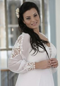 Sheer Long Sleeve Plus Size Bridal Gown. Darius Cordell has soooo many plus size gowns and they can customize them. No problem! Wedding Dresses For Curvy Women, Plus Size Bridal Dresses, Sheer Wedding Dress, Plus Size Wedding Gowns, Plus Size Gowns, Couture Wedding Gowns, Custom Wedding Dress, Wedding Dress Styles, Designer Wedding Dresses