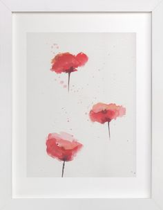 Poppies Study by Lindsay Megahed at minted.com