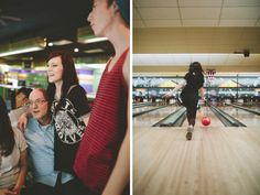 Totally in LOVE with this family bowling lifestyle session by Erin Drago Perfect for a family with teens/tweens too!