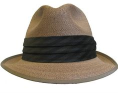 c152366ff46f0 Vintage 1950s Mens Straw Summer Genuine Milan Imported Fedora Hat Size 6  7 8 Fits Mns US Size Small