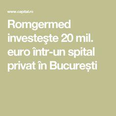 Romgermed investeşte 20 mil. euro într-un spital privat în București