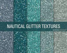 Glitter Digital Paper Textures Nautical  product from SonyaDeHartDesign on TeachersNotebook.com