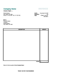 Simple Commercial Invoice Format Templates Free Download Invoice