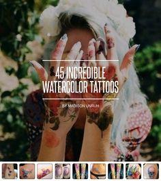 45 #unglaubliche Aquarell Tattoos... - #Beauty