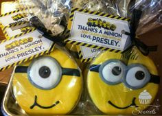 Thanks a minion, cookie party favor
