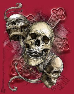 Skulls: #Skulls ~ See no evil; speak no evil; hear no evil.