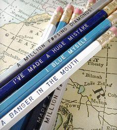 Arrested Development Engraved Pencils