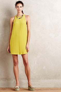 Love the color and the simple cut. Idalia Silk Swing Dress #anthropologie