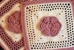 Ravelry: Roses and Lace - 12 square pattern by Melinda Miller ~ free pattern until 6/15/2013