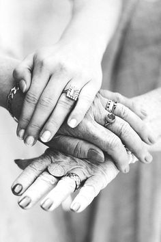 The three generations | Hands of the Bride, her Mother and her Grandmother on the morning of the wedding day | photo by Sanshine Photography