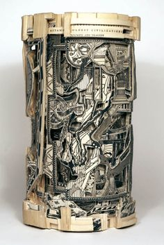 book art carving sculpture brian dettmer (30) This is an amazing artist! Go to his website and see them all...just wow