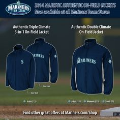 The 2014 Majestic Authentic On-Field Jackets are now available at all #Mariners Team Stores.