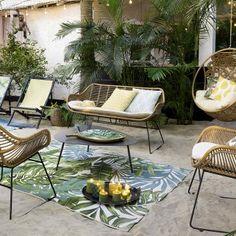 salon de jardin effet tressé Castorama