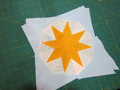 sun pieced block tutorial