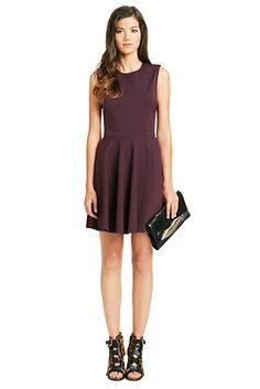 Jeannie Fit and Flare Dress In Brazen Plum