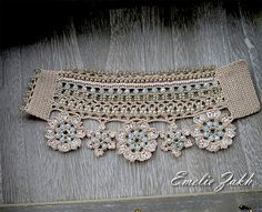 Victorian crochet bracelet lace cuffAntique by EZDessin on Etsy