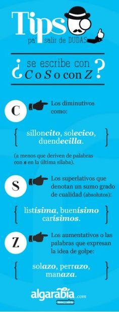 se escribe con C, S o Z - español