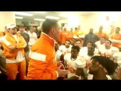 Butch Jones leads Rocky Top in Vol's locker room following win over Vanderbilt.
