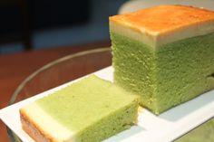 As The Deer : 蒸焦糖布丁湿润砂劳越青苔蛋糕 Steamed Moist Sarawak Green Cake (Kek Lumut) With Caramel Pudding