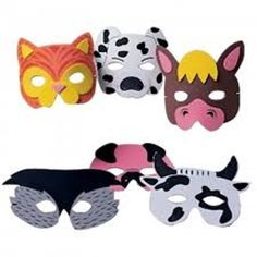 Farm - Animal Foam Masks (Pk 12) | Its All About Kids Gifts