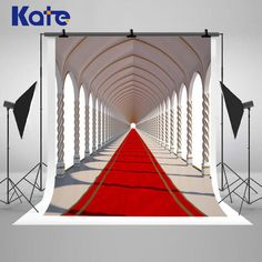 Red Carpet Wedding Photography Backdrops White by katehome2014