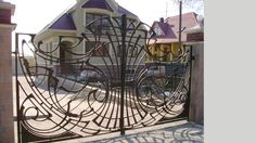 Wrought iron gate grill design front gate