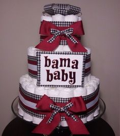 Alabama baby diaper cake