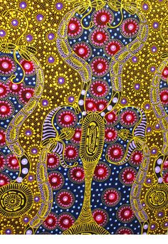 Cicada by Colleen Wallace Nungari   Aboriginal Art Gallery, Australia   www.cicada-trading.com