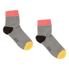 Aland Fashion Stripe Cotton Soft Breathable Mens Five Toes Casual Sport Running Socks 1#