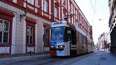 Wrocław, tramwaj Protram 205WrAs #2709 - #Wrocław, #tramwaj, #tram Cantilever Bridge, All Over The World, Around The Worlds, Train Light, Light Rail, Bridges, Automobile, Cable, Track