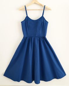 """VACATION • VINTAGE (@vacationvintage) on Instagram: """"$68 + s&h Vintage blue cotton Lanz sundress with pintuck bodice, pockets and back zip. Excellent…"""""""
