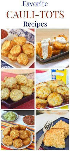 Favorite Cauli-Tots Recipes - six cheesy varieties of cauliflower tots, the healthy version of tater tots.