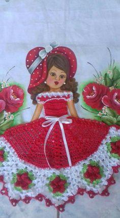 Meus crochê Crotchet Patterns, Crochet Doll Pattern, Crochet Art, Thread Crochet, Vintage Crochet, Crochet Dolls, Hand Embroidery Stitches, Embroidery Applique, Barbie Patterns